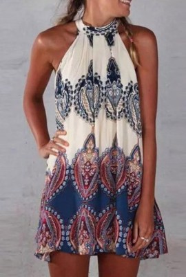 Paisley Halter Neck Dress, $17.99