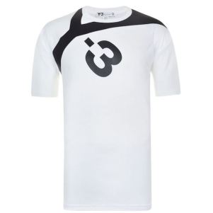 Y3 Logo T Shirt White, $107