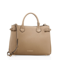 Burberry Banner Medium Satchel Dark Sand, $1,595