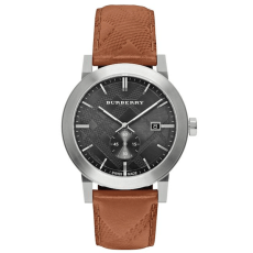 Burberry Check Stamped Stainless Steel Watch, $495