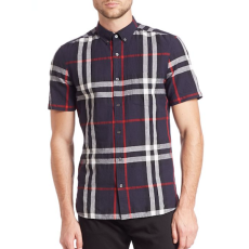 Burberry Elfords Exploded Plaid Casual Button Down Shirt, $295