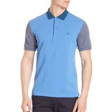 Burberry Rivington Core Gravenhurst Colorblock Polo, $195