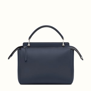 Fendi Dotcom Two Tone Leather Satchel Blue Back, $2,400