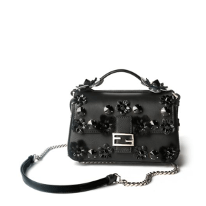 Fendi Flower Studded Double Baguette Front, $2,600
