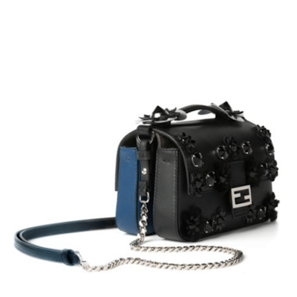 Fendi is Luxury Flower Studded Double Baguette Side, $2,600