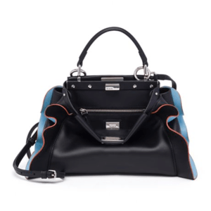 Fendi Peekaboo Leather Satchel Black, $3550