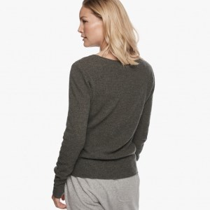 James Perse Cashmere Thermal Crew Neck Back Sepia, $350