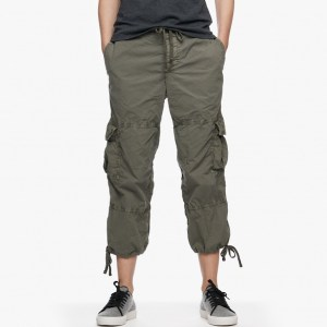 James Perse Cropped Cargo Pant Trooper Pigment, $245