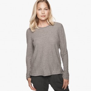 James Perse Melange Cotton Wool Tee Grey Melange, $135