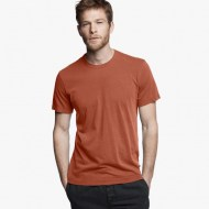 James Perse Short Sleeve Crew Neck Tamarind Pigment, $60