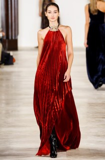 Ralph Lauren Collection Pamela Pleated Halter Gown Runway, $4,990