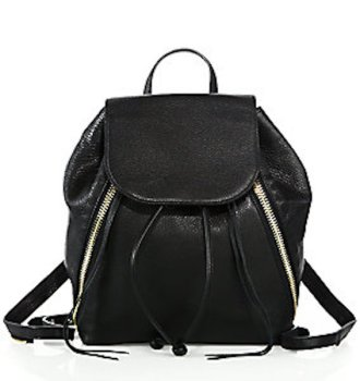Rebecca Minkoff Bryn Moto Leather Backpack, $375