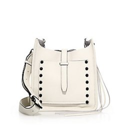 Rebecca Minkoff Small Unlined Studded Leather Feed Crossbody Bag, $275