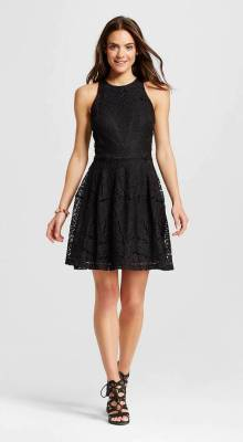 Mossimo Lace Fit and Flare Dress, $29.99