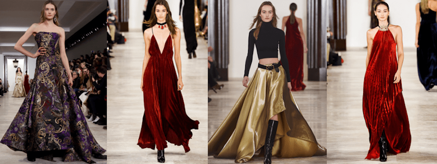 Ralph Lauren Timeless Classic Glamour Fall 2016 Evening Collection