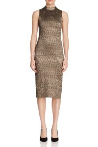 Alice & Olivia Marcella Metallic Midi Dress, $350
