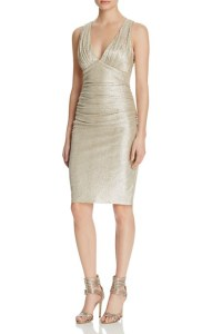 Laundry by Shelli Segal Metallic Twist Back Dress, $225