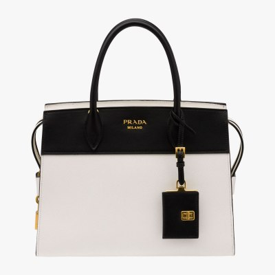 Prada Esplanade Medium Saffiano & Leather Tote White Side, $2,470
