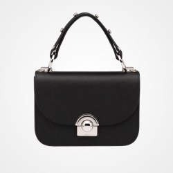 Prada Calf Leather Arcade Bag Black $2,750