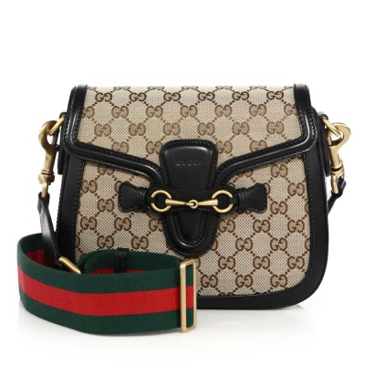 Gucci Lady Web Medium GG Canvas Shoulder Bag $1,900