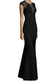 Herve Leger Knit Cap Sleeve Gown $1,890