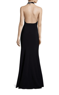 Marchessa Notte Beaded Halter Neck Gown $845