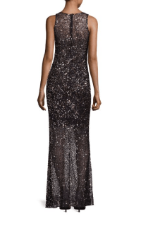 Parker Black Tiffany Sequin Gown $698