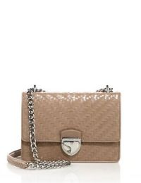 Prada Madras Woven Leather Chain Bag Cammeo, $2,500