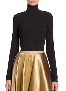 Ralph Lauren Collection Carmen Cropped Turleneck Back $1,090 and Marissa Mikado Skirt, $5,990