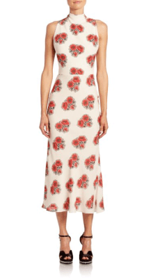 Alexander McQueen Silk Open Back Midi Dress $3,075