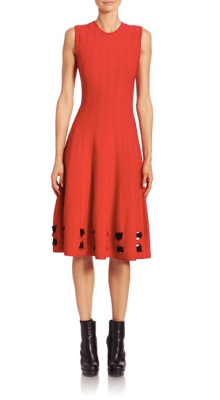 Alexander McQueen Twist Hem Knit Midi Dress $1,775