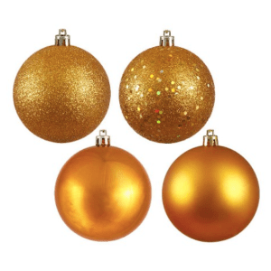 Antique Gold Assorted Finishes Ornament Set $47.24