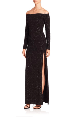 Bailey 44 Julia Sequined Gown Side $228