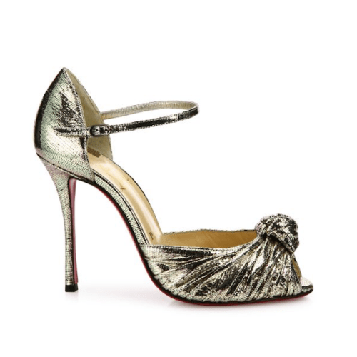 Christian Louboutin Marchavekel Knotted Metallic D'Orsay Pumps $945