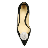 Giorgio Armani Embellished Suede D'Orsay Point-Toe Pumps Top $1,045