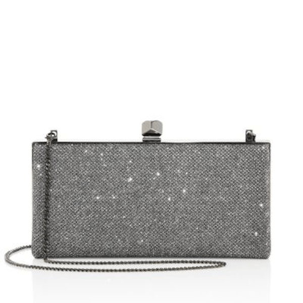 Glitter Finishing Touch Clutch Jimmy Choo Celeste Glitter Clutch Anthracite $975