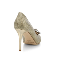 Jimmy Choo Mamey 90 Glitter & Crystal Point-Toe Pumps Back $975