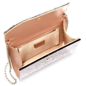 Jimmy Choo Speckled Camelia Clutch Open $750