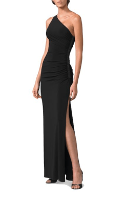 Laundry by Shelli Segal One-Shoulder Matte Jersey Dress, $270