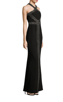 Parker Black Mila Halter Dress Side $528