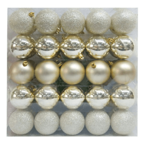 Wondershop 70mm Champagne Shatterproof Ornaments $15