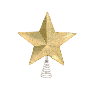Wondershop Lit Gold Mercury Tree Topper, $10
