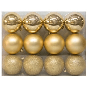 Wondershop Metallic Shatterproof Ornament Set $15