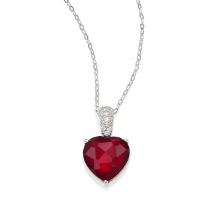 Adriana Orsini Crystal Heart Pendant Necklace $90
