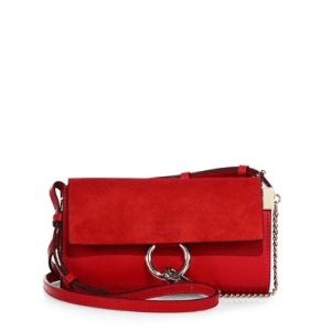Chloe Mini Faye Leather & Suede Shoulder Bag $795