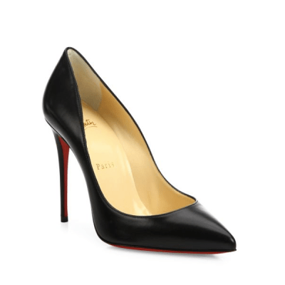 Christian Louboutin Pigalle Follies Nappa Leather Point-Toe Pumps