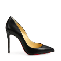Christian Louboutin Pigalle Follies Nappa Leather Point-Toe Pumps Side $675
