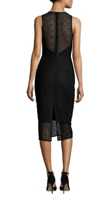 Diane Von Furstenberg Tailored Twig Lace Dress Back $368