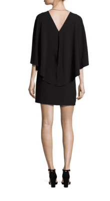 5db0d56ada5a Halston Heritage Flowy Cape Sleeve Crepe Dress Back $295