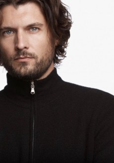 James Perse Cashmere Double Layer Sweater Closeup $795